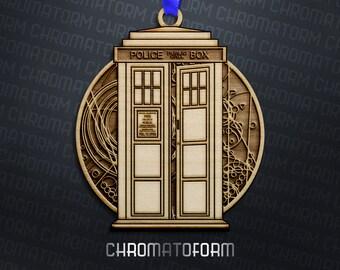 Doctor Who TARDIS Ornament - Laser engraved