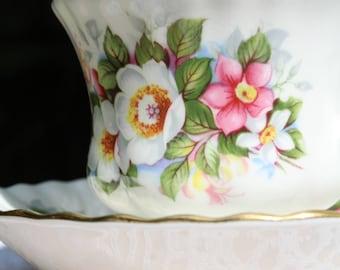 Vintage Royal Albert, Woodborough Tea Cup and Saucer