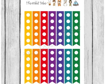 Mini Sticker Sheet - checklist - colourful - planner stickers