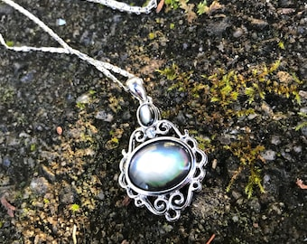 Romantic Silver Gemstone Pendant Chain Necklace