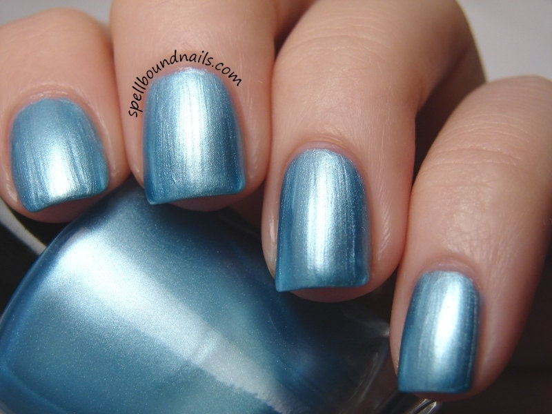 Impossible Things Blue Frost Nail Polish Alice in Wonderland