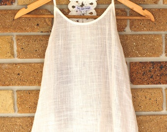 Beachy White Top with Lace Detail