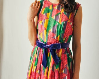 Vintage Malcolm Starr Print Dress