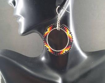Native American Handmade Beaded  Earrings