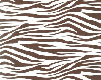 Chocolate Brown Zebra From Robert Kaufman