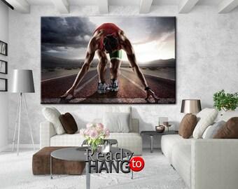 Sport Running Canvas, Running canvas, Motivation art, Sport wall art, Running wall art, Motivational wall art, Sport canvas art, Running art