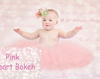 DIGITAL Heart Bokeh Overlay, background, backdrop, for photos, photography, photographs, design, Valentine's Day