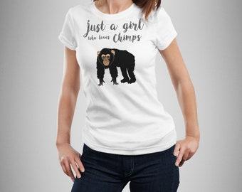 Animal lover gift women, Fun AnimalChimp shirt women, Monkey shirt women, Chimpanzee t-shirt for women, Monkey lover gift, Monkey gift girls