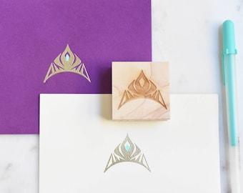 Frozen Elsa Crown Stamp