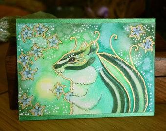 Green Series - Chipmunk Magic - Original Art
