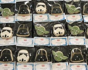 Star Wars Cookies 30pcs. NUT FREE. Egg Free.