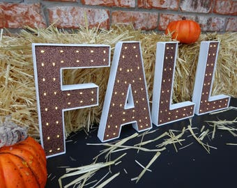 Fall Decor - FALL Marquee Letters - 8 Inch or 4 Inch - Fall Festival - Harvest - Thanksgiving Decor - Lighted Fall Decor - Fall Decorations