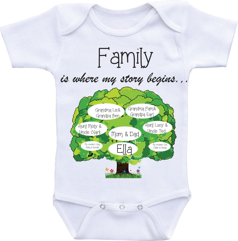 Family tree onesies unique baby onesie personalized custom zoom negle Image collections