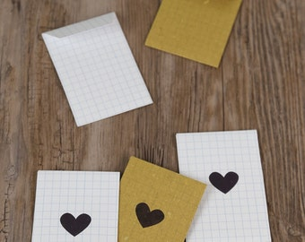 Small hearts paper envelope (set of 5)
