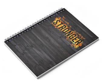 Stronger Spiral Notebook  Ruled Line
