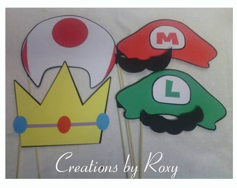 Mario Brothers Photo Props