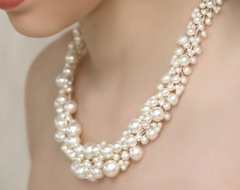 """Wedding Pearl Necklace """"Pearly Girly Necklace"""""""