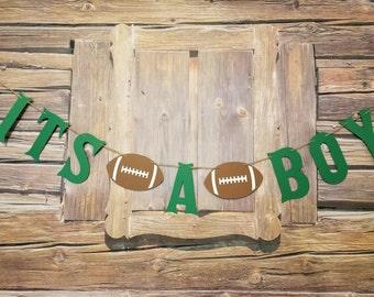 Sports Theme It's A Boy Banner, It's A Boy Sign, It's A Boy Sports Photo Prop, It's A Boy Football Banner, Football Themed It's A Boy Sign