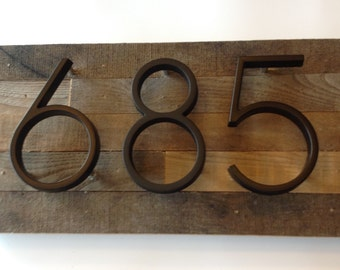 Reclaimed wood Address Plaque - custom, rustic, personalized, house numbers, address sign, cabin, cottage, housewarming gift, address plate