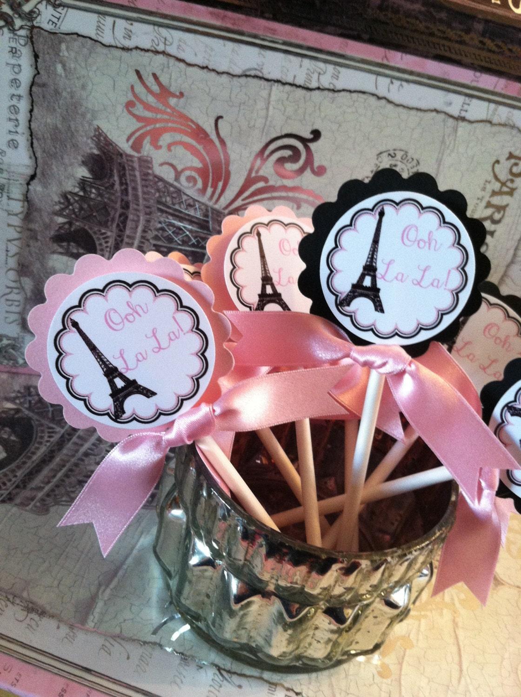 Eiffel Tower Parisian Theme Birthday Bridal Shower or Party