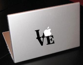 """Philadelphia Love Park Sculpture 15"""" Macbook Apple Laptop Decal"""