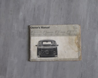Vintage 1971 Volkswagen Owners Manual - Station Wagon, Campmobile, Pick Up
