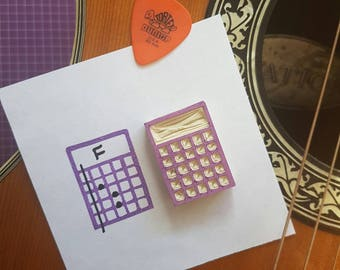 Guitar Tab Stamp - music, chords, sheet, teacher, student, boxes