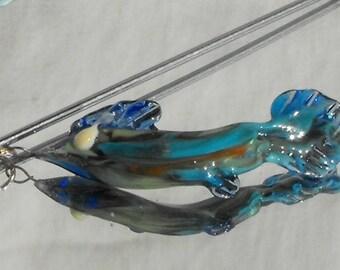 handspun hand PERL.0519 fish bead