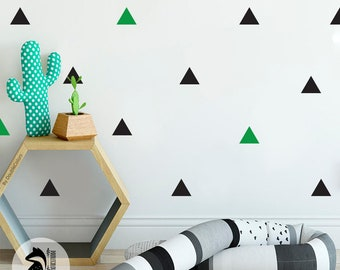 Wall stickers triangles, wall decals, wall stickers, Nursery kids wall decal, triangles decals, vinyl kids room, 1 or 2 colors.