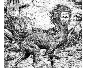 """Berhart - """"Primus Tempus"""" - drawing of mythological and symbolic inspiration"""