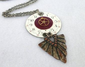 Steampunk Necklace --Pocket Watch Collage  SN322