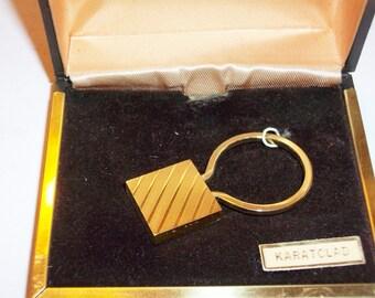 Vintage clé chaîne or Karatclad moderne en originale boîte Circa 198 livraison gratuite aux ETATS-UNIS
