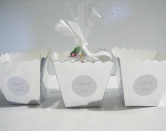30 Silver party favour boxes - wedding party favours - table decorations - birthday party favours - wedding favours/decor - mini treat boxes