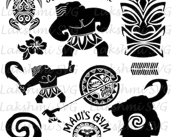 You 39 re welcome inspired by moana svg file maui svg fish for Maui tattoo stencil