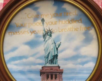 1985 Gorham Signed & No. Limited Edition Statue Of Liberty Collector Plate