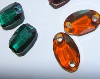 Six sets of Swarovski Crystals - Large Bead Pairs