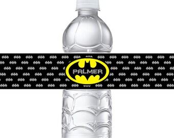 Personalized Batman Water Bottle Labels