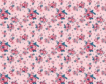 Cotton Fabric, Pink Dress Fabric, Floral Print, Georgette Viscose Fabric, Sewing Supplies, Decor Fabric, Fabric By The Yard, MIN-FL23C