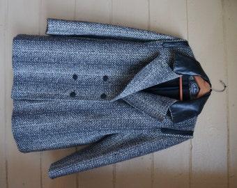 Vintage Wool Coat Grey Coat Womens Wool Coat Wool Jacket Grey Jacket Womens Dress Coat Size Large