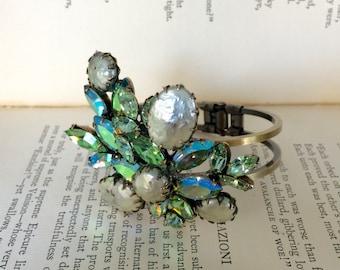 REGENCY Signed Vintage Brooch Bracelet, Repurposed Vintage