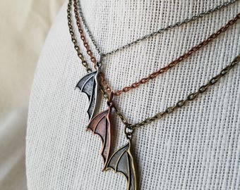 Bat Wing Pendant Necklace
