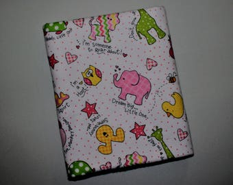Little One Flannel Receiving Blanket, Baby Animals and Sayings, Baby Blanket
