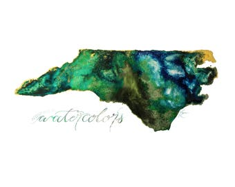 Gemstone North Carolina State Print