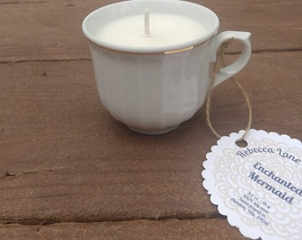 Enchanted Mermaid - Soy Wax Tea Cup Candle