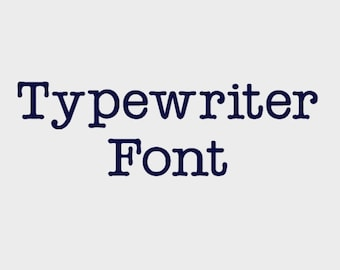 """Typewriter Embroidery Machine Font in 4 sizes (0.5"""", 1"""", 1.5"""" & 2"""") upper and lower case + numbers - INSTANT DOWNLOAD -  Item # 1071"""