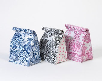 Set of 3 Oilcloth Lunch Bags