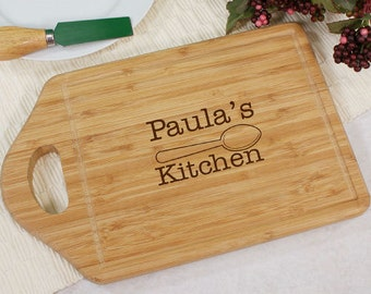Engraved Kitchen Bamboo Cutting Board, cheese board, personalized, carving board, wooden, kitchen, gift, housewarming gift -gfyL616430