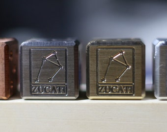 Zucati Constellation Logo Die  - Exotic Metals - Engraved - Pips