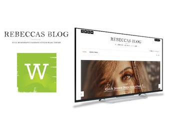 Rebeccas WordPress Blog Theme - WordPress Theme - WordPress Blog - WordPress Blog Template - WordPress Template - Fashion Blog - Feminine