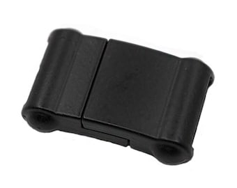 1 Set Flat Magnetic Clasp Black Painted | Magnetic Clasp for leather , Strong Color - High Quality